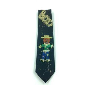 Vintage Tie Boo Halloween Jack-O-Lantern Scarecrow
